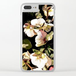Hellebores Dark Garden Clear iPhone Case