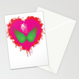 lovebomb-iiis - élan vital ephemeral - in_destruction creation! (blood splatter v) Stationery Cards