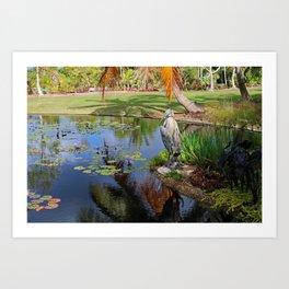At the Pond Art Print