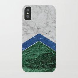 Arrows - White Marble, Blue Granite & Green Granite #220 iPhone Case