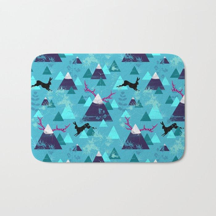 blu mountains Bath Mat