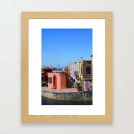 Colorful Capitola Houses Framed Art Print