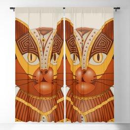 The Geocat, digital geometrical illustration Blackout Curtain