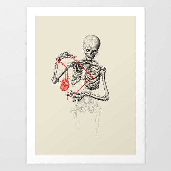 I need a heart to feel complete Art Print