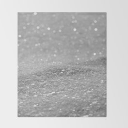 Glitter Silver Throw Blanket
