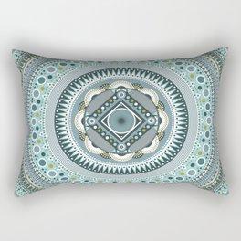Blue Mandala Rectangular Pillow