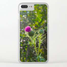 Thistle in Sunlight Clear iPhone Case