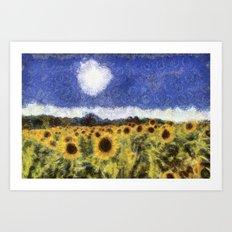 Sunflower Summers Van Gogh Art Print