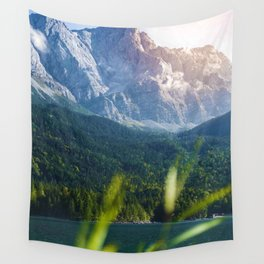 Grass Mountain View (Color) Wall Tapestry