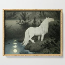 """Water Sprite"" by Theodor Kittelsen Serving Tray"