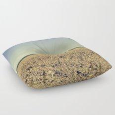 Lonely Field in Blue Floor Pillow
