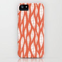 Quail Feathers (Poppy) iPhone Case