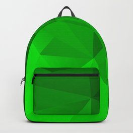 Triangles in different shades of green Backpack