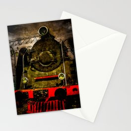 Vintage Steam Engine Locomotive - Heavy-Duty Stationery Cards