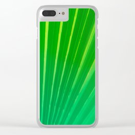 Palm Tree Leaf Clear iPhone Case