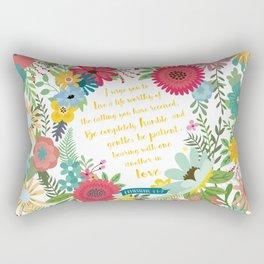 Ephesians 4:1-2 Rectangular Pillow