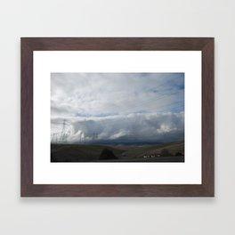 Power Lines On The Horizon Framed Art Print