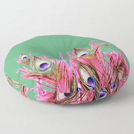 Peacock Plumes Floor Pillow