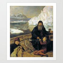 John Collier - The Last Voyage of Henry Hudson Art Print