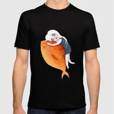 The Fish Girl Mens Fitted Tee Black MEDIUM