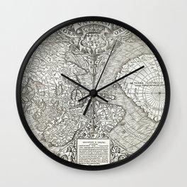 "World map ""Nova et integra universi orbis descriptio"" By Oronce Fine, dated 1532 Wall Clock"