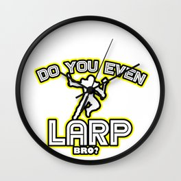 Larping Larper Larps Play Live  Action  Role Gift  Wall Clock