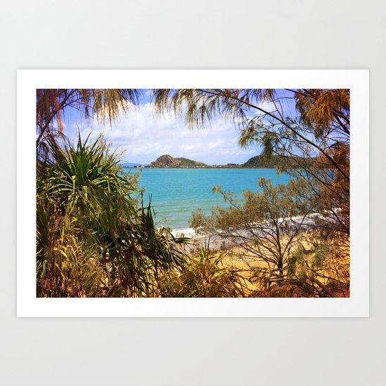 Idyllic Coastal View Art Print