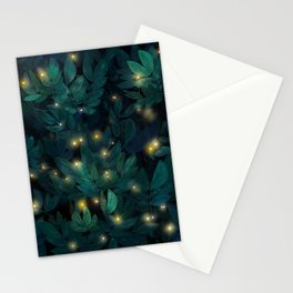Beautiful leaves with magic lights Stationery Cards