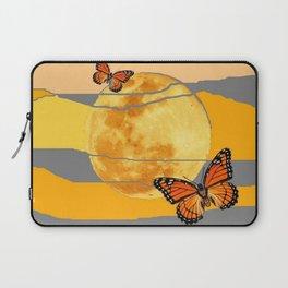 MOON & MONARCH BUTTERFLIES DESERT SKY ABSTRACT ART Laptop Sleeve