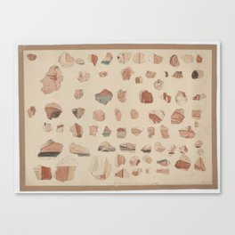 Painted plaster fragments from Amarna, 1930s Canvas Print