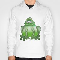frog Hoodies featuring Frog by Frances Roughton