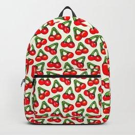 Cherry Gummy Pattern - White Backpack