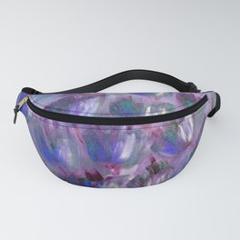 Purple, Red and Blue Abstract Flowers Fanny Pack