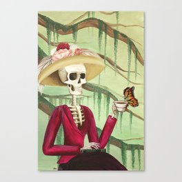Jane Austen La Catrina Canvas Print