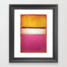 Mark Rothko - White Center Framed Art Print