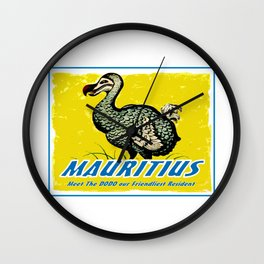 MAURITIUS Travel and Tourism Advertising Poster Print Wall Clock