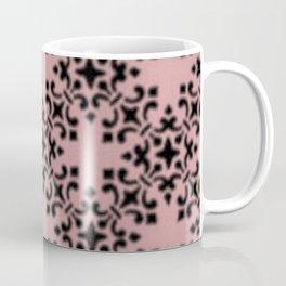 Vintage Brocade Damask Bridal Rose Coffee Mug