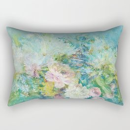 Abstract pastel spring floral Rectangular Pillow