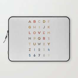 Letter Love - Color Laptop Sleeve