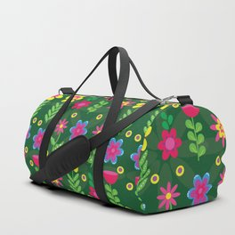 Colorful Flowers Duffle Bag