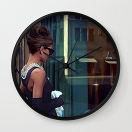 Audrey Hepburn #2 @ Breakfast at Tiffany's Wall Clock