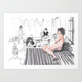 Figure Drawing, 83 Art Print