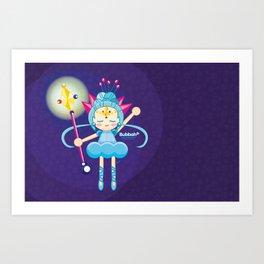 Crystal Bubbah Art Print