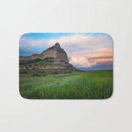 Scottsbluff - Landscape in Evening Light in Western Nebraska Bath Mat