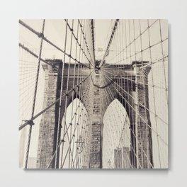 Brooklyn Bridge - New York Metal Print