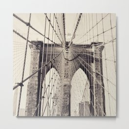 Brooklyn bridge, New York city, black & white photography, wall decoration, home decor, nyc fine art Metal Print