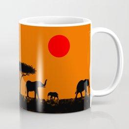 Elephants in the savanna Coffee Mug