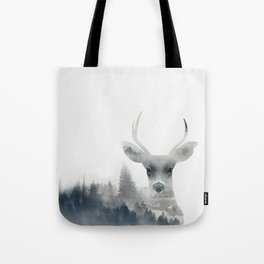 Fearless  winter deer Tote Bag