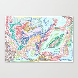 soft & tumultuous  Canvas Print