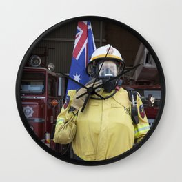 Fire Fighter Wall Clock